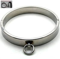 neck collar bdsm tools - Slave Toys Men BDSM Metal Neck Collar Sex Restraint Necklet With Lock Joints Adult Games Stainless steel Neck Ring Male Gay Sexual Tools