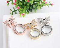 Wholesale NEW Rhinestones Animal Bee Brooches Pins With MM Floating Locket Pendant For Women Wedding Dress
