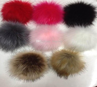Wholesale Raccoon fur Fox fur pom poms ball Soft Fur Ball AAA high new gify Copy cm fur hat winter hats for shoes bags fur cap accessories
