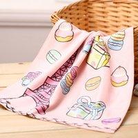 bamboo tea towels - Tea Limited Design Paris Eiffel Tower French Macarons Poodle bamboo fiber towel washcloth