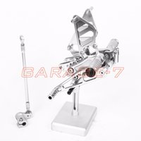 Wholesale A New Silver CNC Rearsets Foot Rests Rear Set For HONDA CBR954RR Hayabusa Motorcycle Foot PegsExcelent