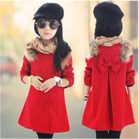 Wholesale Girls Down Clothing Paragraph Warm Atmosphere Mashup Keep Warm Grace Mandarin Length Novelty Cute American Style Blends Cotton Novelty Warm