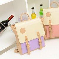 Wholesale Girls Leather Backpack Shoulder Bag Three Color Design Schoolbag Bookbag Knapsack Birthday Gift hb102