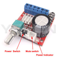 Wholesale Class D Power Amplifier hifi stereo Amplifier Board DC V Digital Amplifier W W Dual Channel Audio Control Module