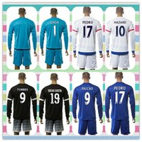 army uniforms - New Product Chelsea Uniforms Kit Fabregas Hazard PEDRO Chelseafc Soccer Jersey Blue White Black Long Sleeve Jerseys Shirt