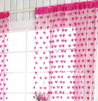 Wholesale W cm H cm Fashon love style ready made string curtain Cheap Good quality curtians wholesaler