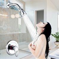 Wholesale singe lever shower set brass chrome water tap faucet shower in wall shower head set bath taps rain shower mixer