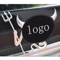 Wholesale 2015 New Design D Car Sticker Soft PVC Little Devil Cars personalized car stickers D stereoscopic car stickers