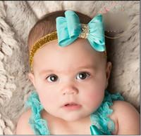 glitter ribbon - Glitter Diamond Bowknot Princess Baby Bride Kids Adorable Photo Hair Bands Handmade Children Hair Accessories Headbands Band K4902