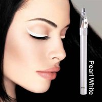 Wholesale Pearl white eyeliner waterproof eye liner pencil pen make up beauty comestics EQA778