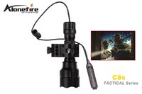 Wholesale SKU1166 AloneFire C8s Tactical Series CREE XM L2 LED mode Professional color lens tactical flashlight torch light for x18650