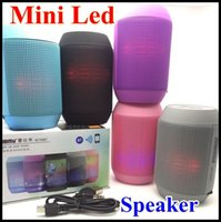Wholesale Free DHL New Hot Pulse Portable Super mini Wireless Bluetooth Speaker Colorful LED lights Support U disck and TF card Outdoor Louder Speaker