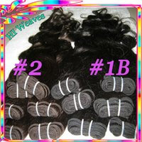 Wholesale 100 Indian Hair Natural B quot quot Body Wave Human Hair Weave Fast Delivery By DHL