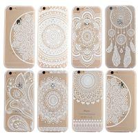 Белых слонов Цены-Для iPhone 5 5s 6 6s Plus хны белый цветочный цветок Пейсли Случаи Mandala слон Ловец снов PC Back телефон крышки случая