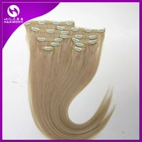 remy clip in - 120g set clip in hair extensions Bleach Blonde inch Straight Remy human hair extension