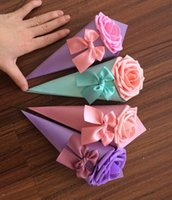 bag hand make - New Wedding Favor Holders Romantic Pairs Ceremony Gift Small Box Candy Chocolate Bag Paper Packing Bags Hand Made