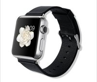 Wholesale 2015 hot selling elegant soft Genuine Leather watch strap for apple watch band with retail package cm cm