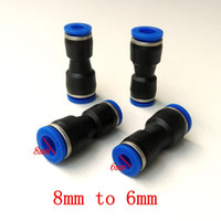 Wholesale 10pcs Pneumatic Air Fitting Change Diameter Connector mm to mm Union Straight Connector PG8