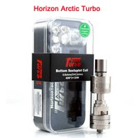 Clone Horizon <b>Arctic Turbo Tank</b> Turbo RDA Atomizer Huge Vaporisateur 4ml Arctic Turbo Sub Ohm Tank SMOK TFV4 mini uwell crown tank