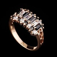 alternative wedding bands - Fashion Alternative Women Accessories Ring Jewelry Real K Rose Gold Plated Austrian Crystal Exaggerated Ring RZ0007