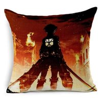 Wholesale Attack on Titan no Kyojin Printed Jpanese Anime Decorative Pillowcase Pillow Cover x45cm Best Gift For Kids Friends Retail