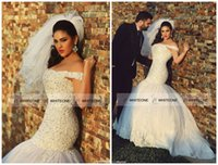 beautiful wedding sayings - Said Mhamad Middle East Mermaid Wedding Dresses Beautiful Beaded Off shoulder Hollow Back Floor length Plus Size Wedding Gown