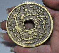 ancient coin collecting - 6cm China Collect Old Bronze Ancient coins Statue Emperor Kangxi Tongba