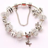 Wholesale fashion pandora charms for women glass beads Bracelets ebay selling silver Pandora bracelets DIY pandora jewelry fashion trend