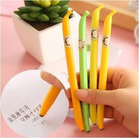banana supplier - cartoon banana style liquid ink pen school stationery supplier unisex pen water based pen for students gifts ARC691