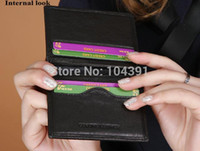Wholesale Yicktak Brand Credit Card Holder Men s Cow leather Card Package Slim Genuine Leather Bank Card Case Business Card Wallet