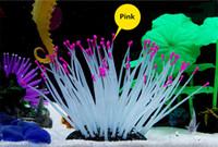 aquarium lighting for planted tanks - Dark Light Aquarium Fish Tank colors Silicone Sea Anemone Ornamen Emulational Sea Plant Anemone Coral Ornament Decor For Aquarium Fish Tank