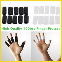basketball finger sleeves - High Quality Finger Knuckle Wrap Brace Sleeve Support Protect Gym Volleyball Basketball Sport Free Ship In Stock QCC