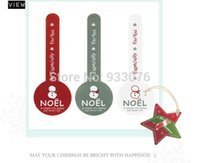 adhensive labels - Colors Noel Pudding Bottle Sealing Label Lollipop Self Adhensive Sticker