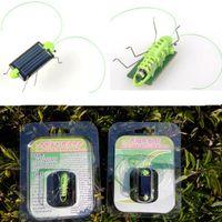 Wholesale Best Electric Animal Cricket For Kids Solar Education Mini Plastic Solar Energy Grasshopper Toy