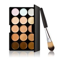 affordable makeup brushes - new hotest colors professional party concealer contour face cream foundation plus a makeup brush the most affordable JAN