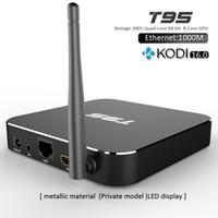 google internet tv box - Android TV Box T95 XBMC Fully Kodi16 installed MXQ upgrade S905 Gigabit LAN WiFi TV Box Metal Case T95 Internet Media Boxes for TV