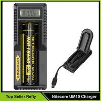 Cheap 100% Original Nitecore UM10 Charger Nitecore UM10 Universal Intelligent with LCD Display Battery Charger VS Nitecore I2 Nitecore UM20