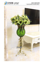 Wholesale High large vases home furnishing articles adornment flower arranging hydroponic transparent glass vase