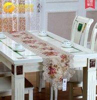 Wholesale European rural cloth art tablecloth toalha de mesa table runner lace wedding table runners satin table runner