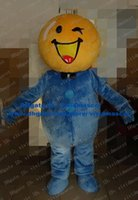 fresh orange mandarin - Fresh Yellow Blue Orange Arancia Mandarin Tangerine Mascot Costume Fruit With Black Bowknot Bow Tie Blue Globe Belly No FS