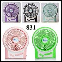 Wholesale Free DHL LiLeng Mini USB mini Fan Handheld Mini Fan Portable Small Air Conditioner with Rechargerable battery desktop fan Mini Fan