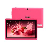 Wholesale US Stock IRULU Inch Q88 Quad Core Tablet PC ALLwinner A33 Android GHZ MB GB HD Wifi Tablets