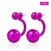 ear pin - Celebrity Runway Double Pearl earrings Beads Plug Earrings Ear Studs Pin Big Pearl Earrings