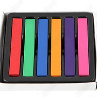 Wholesale 6 Hair Chalk Easy Temporary Colors Hair Chalk Dye Soft Hair Pastels Kit Hair Beauty Care H4
