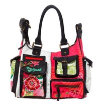 Wholesale 2014 New desigual beautiful women s bag shoulder Messenger bag With PU Leather Canvas xy035