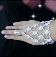 Wholesale Luxury Only Bridal Bride Bracelet Crystal Wedding Accessory Korean Style Weddng Bracelet With Rings Bride Summer Beach