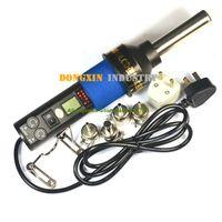 Cheap free ship 220V-240V 450 Degree LCD Adjustable Electronic Heat Hot Air Gun Desoldering Soldering Station IC SMD BGA + 4 8018LCD