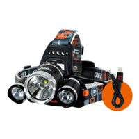 ac cycle - Boruit CREE XM L T6 R2 Headlight Trinuclear Headlamp Modes Head Torch Lamp AC Charger Car Charger Cycling Lights