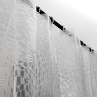 Wholesale Popular Clear Thicker Shower Curtain D Water Cube Mold Water Bath Curtain PEVA
