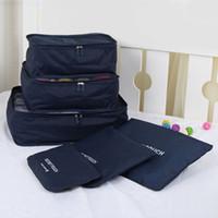 Wholesale Wholesaels Set Travel Organizer Bag Clothes Pouch Portable Suitcase Luggage Storage Case Pouch And Gridbag ZD0046